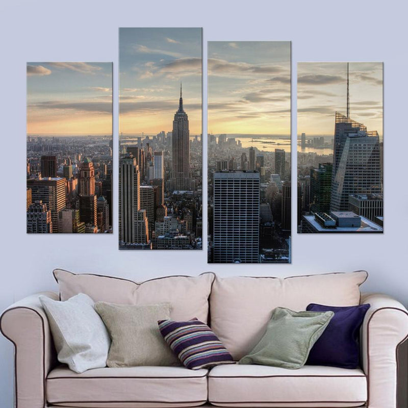 New York Top View Canvas Set - Canvasist