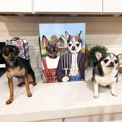 American Gothic Pet Canvas