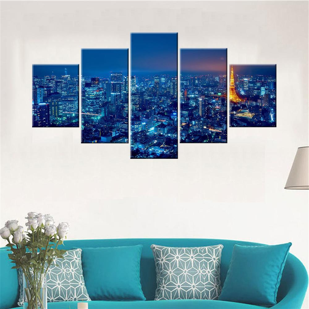 Tokyo Top View Canvas Set - Canvasist