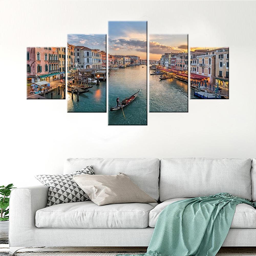 Venice City Top View Canvas Set - Canvasist