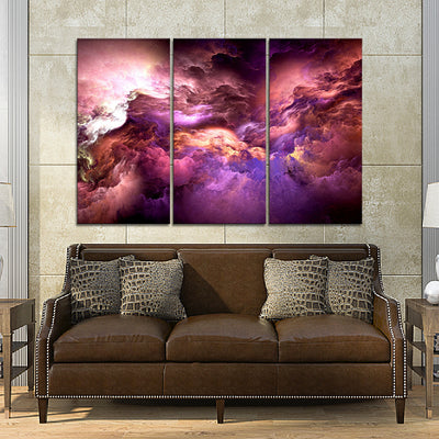Abstract Nebula Canvas Set - Canvasist