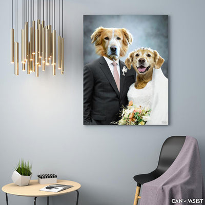 Married Couple Pet Canvas - Canvasist