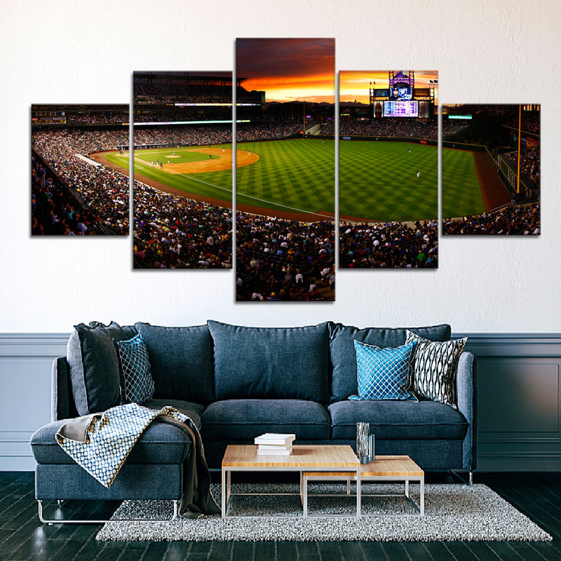 Colorado Rockies Stadium 2 Canvas Set - Canvasist