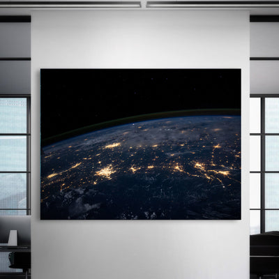 Earth from Outer Space Canvas Set - Canvasist