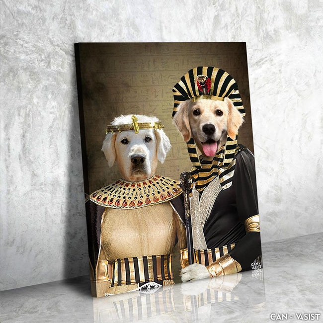 Egyptian Paw-roah Pet Canvas - Canvasist