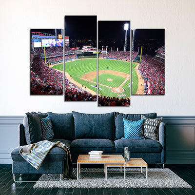 The Big Red Machine Stadium (2) Canvas Set - Canvasist