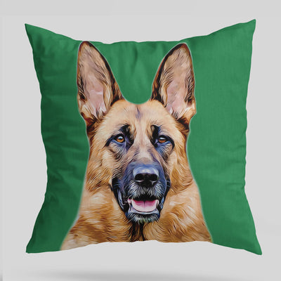 Green Custom Pet Cushion Cover