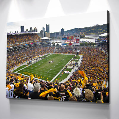 The Black and Gold Stadium Canvas Set