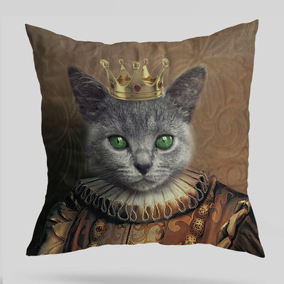 Medieval King Custom Pet Cushion Cover