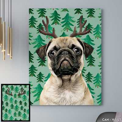 Christmas Background - Pet Canvas