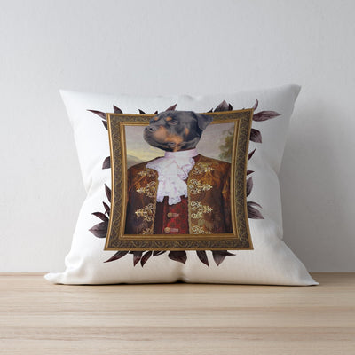 Red Gold Male Custom Pet Cushion Cover