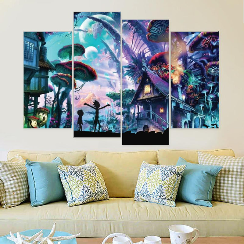 Shroom World Adventures Canvas Set - Canvasist