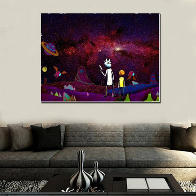 Space Adventures Grandpa and Grandson Canvas Set - Canvasist