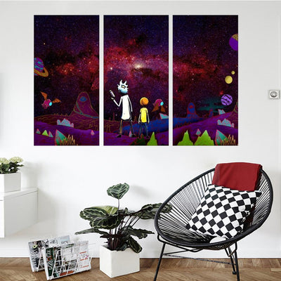 Space Adventures Grandpa and Grandson Canvas Set