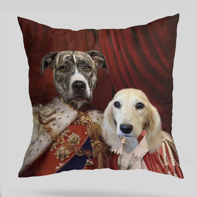Royal Couple Custom Pet Cushion Cover