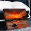 Sea Waves Sunset Canvas Set