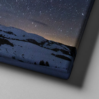 Stars Glazing over the Mountains Canvas Set - Canvasist