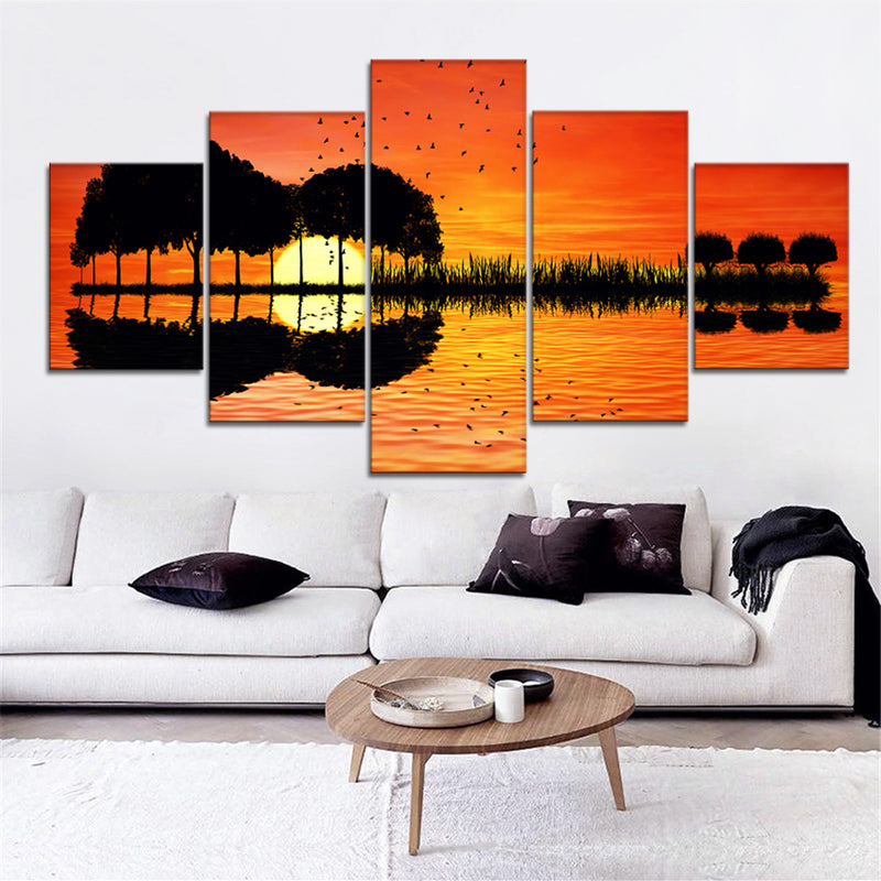 Guitar Sunset Island Canvas set - Canvasist