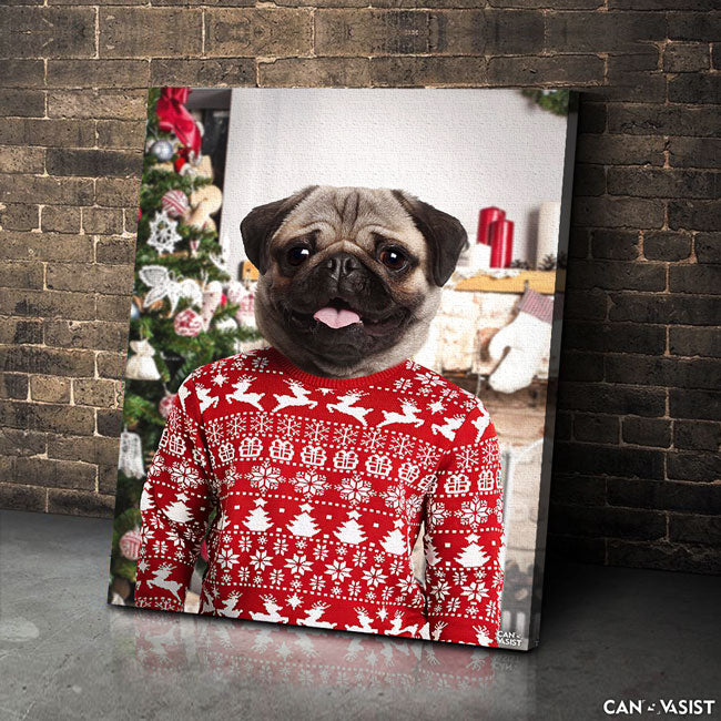 Christmas Sweater Pet Canvas