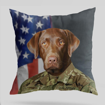 US Army Pet Cushion Cover