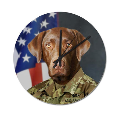 US Army Pet Wall Clock