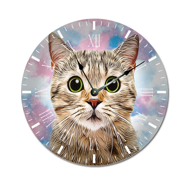 Unicorn Clouds Pet Wall Clock