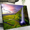Waterfall during Sunset Canvas Set - Canvasist