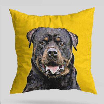 Yellow Solid Custom Pet Cushion Cover