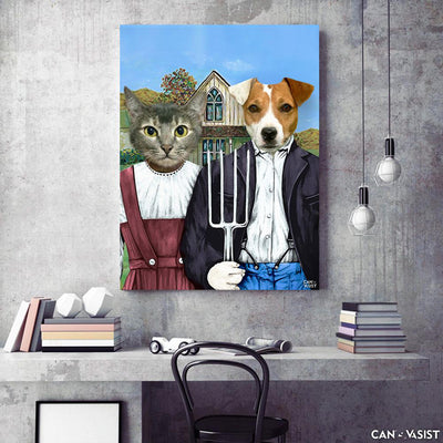 American Gothic Pet Canvas - Canvasist