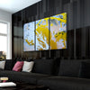 Golden Skyland Abstract Art - Canvasist