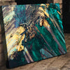 Allusive Teal Abstract Art - Canvasist