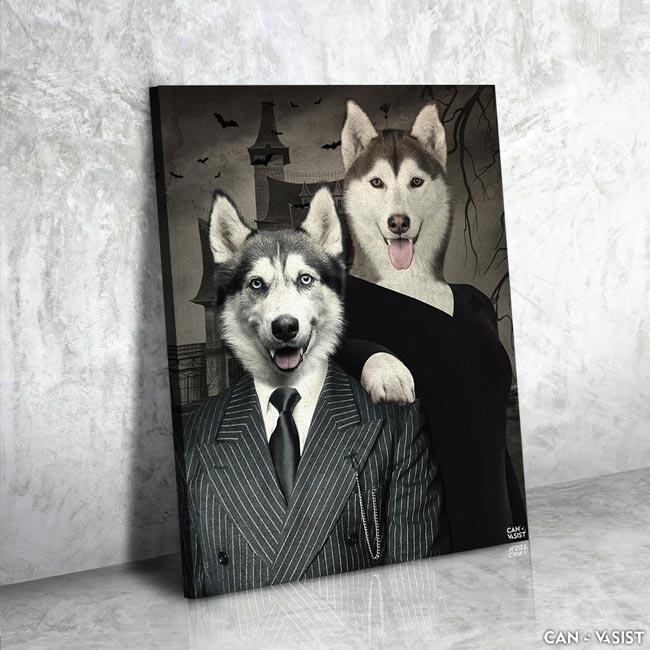 Mr. and Mrs. Adams Pet Canvas
