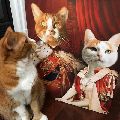 Royal  Couple Pet Canvas