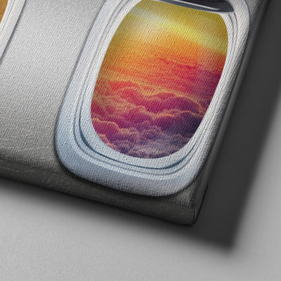 Sunset from an Airplane - Canvasist