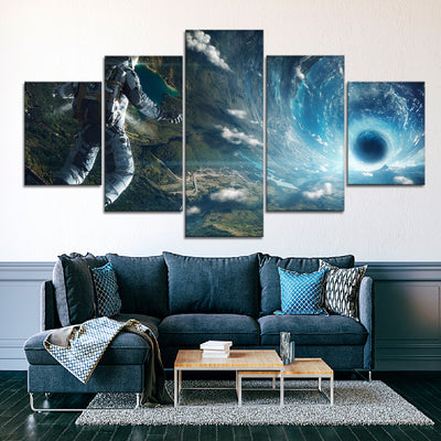 Astronaut In Space Canvas Set - Canvasist