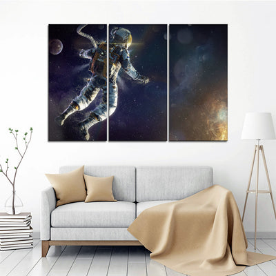 Astronaut In Space (2) Canvas Set - Canvasist