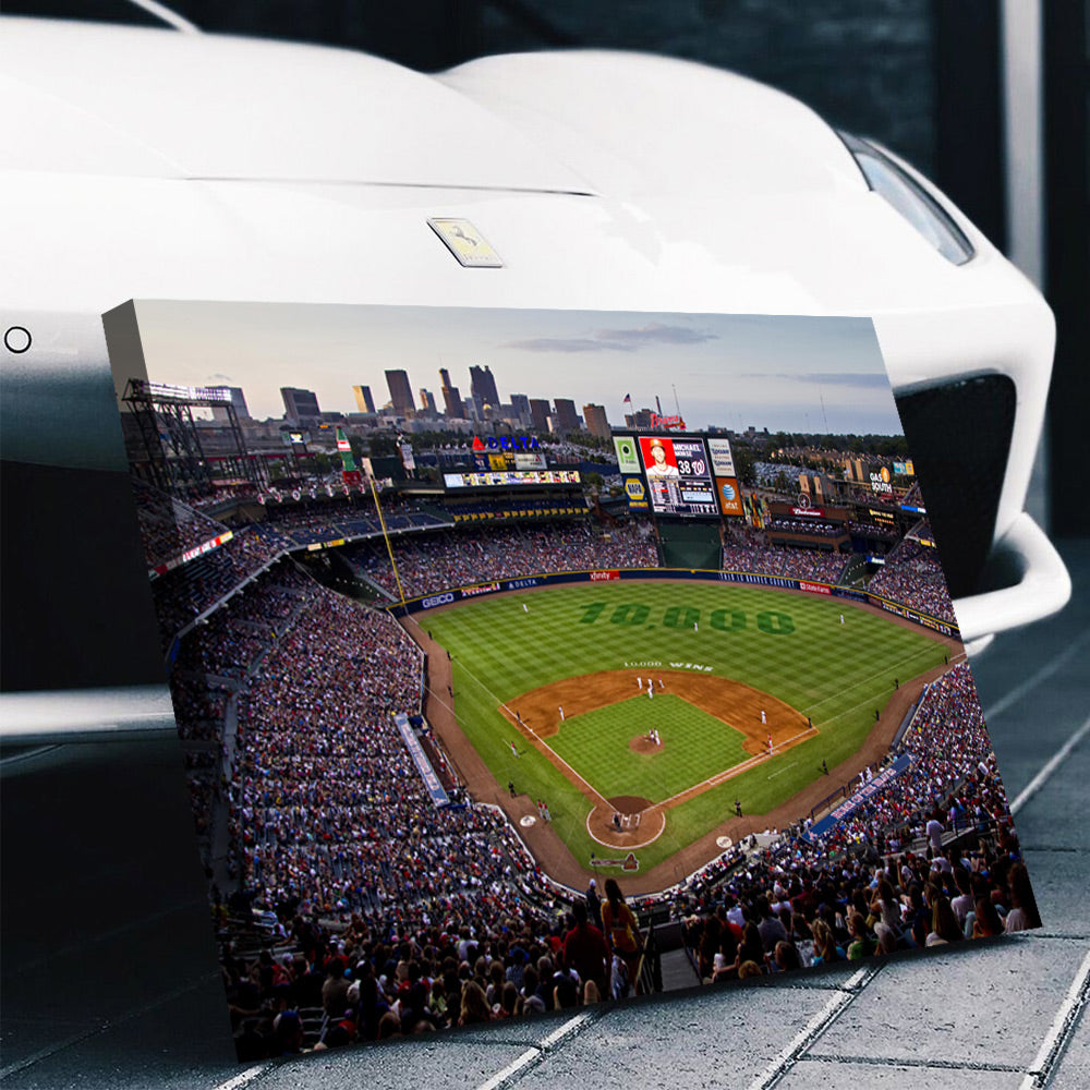 Atlanta Braves Stadium Canvas Set - Canvasist