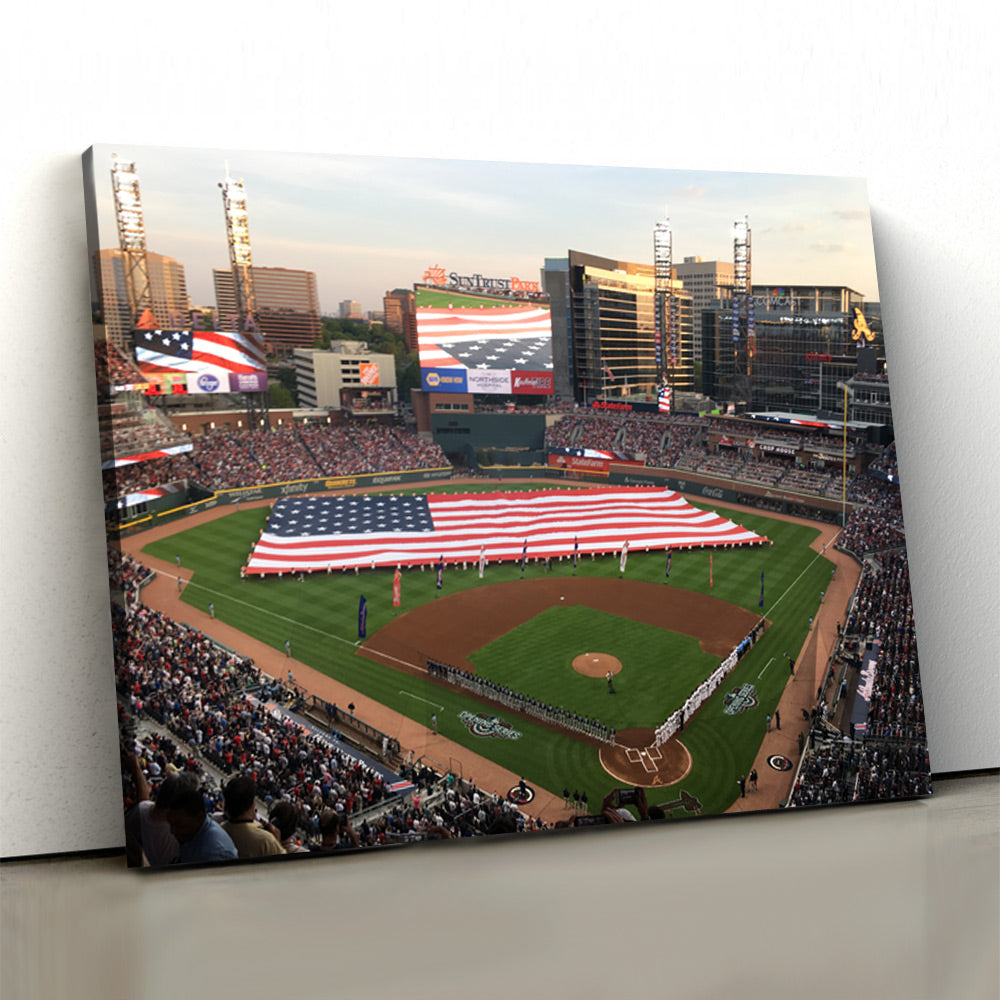 Atlanta Braves Stadium 2 Canvas Set - Canvasist