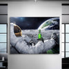 Astronaut Chilling In Space Canvas Set - Canvasist
