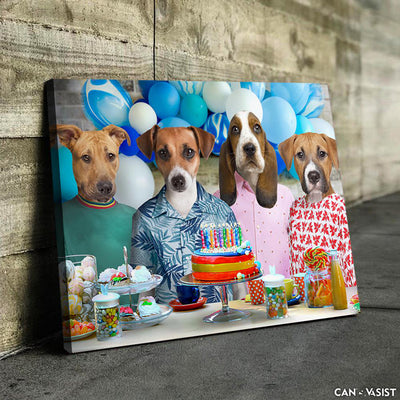 Birthday Purrty Pet Canvas - Canvasist