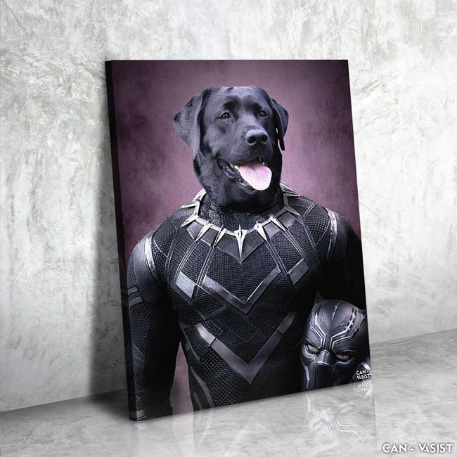 Black Pawther Pet Canvas