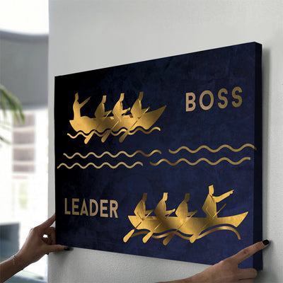 Boss vs Leader - Canvasist