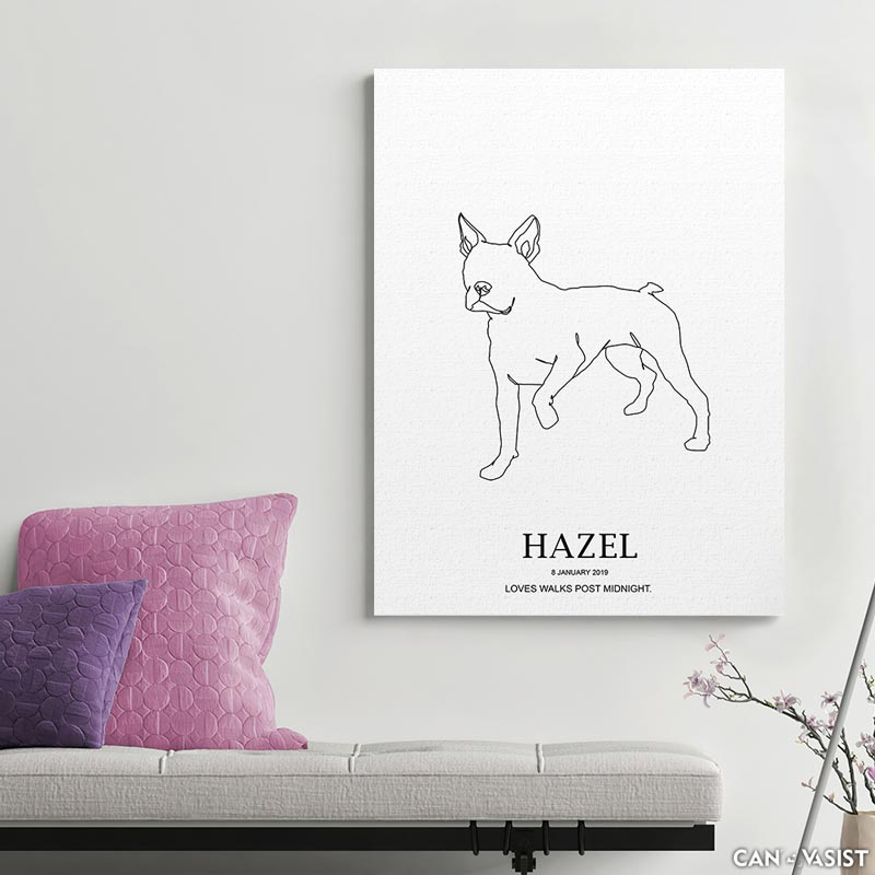 Boston Terrier - Canvasist