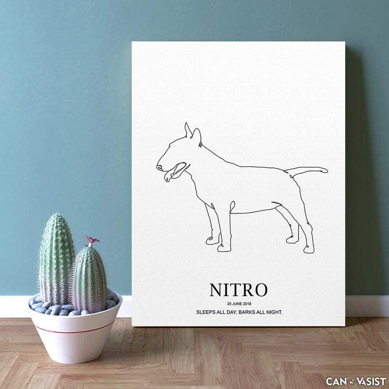 Bull Terrier - Canvasist