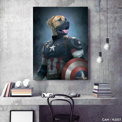 Captain Pur-merica Pet Canvas - Canvasist