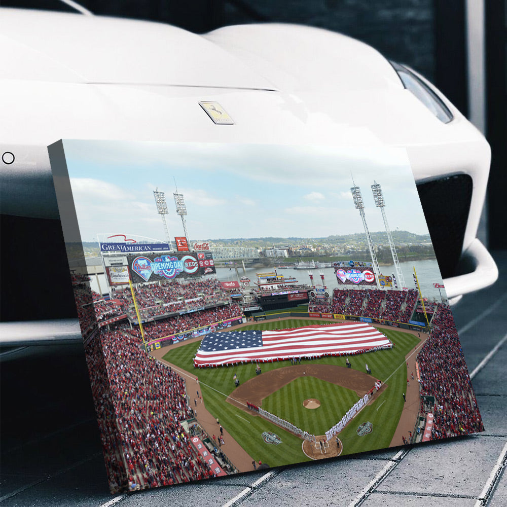 Cincinnati Reds Stadium Canvas Set - Canvasist