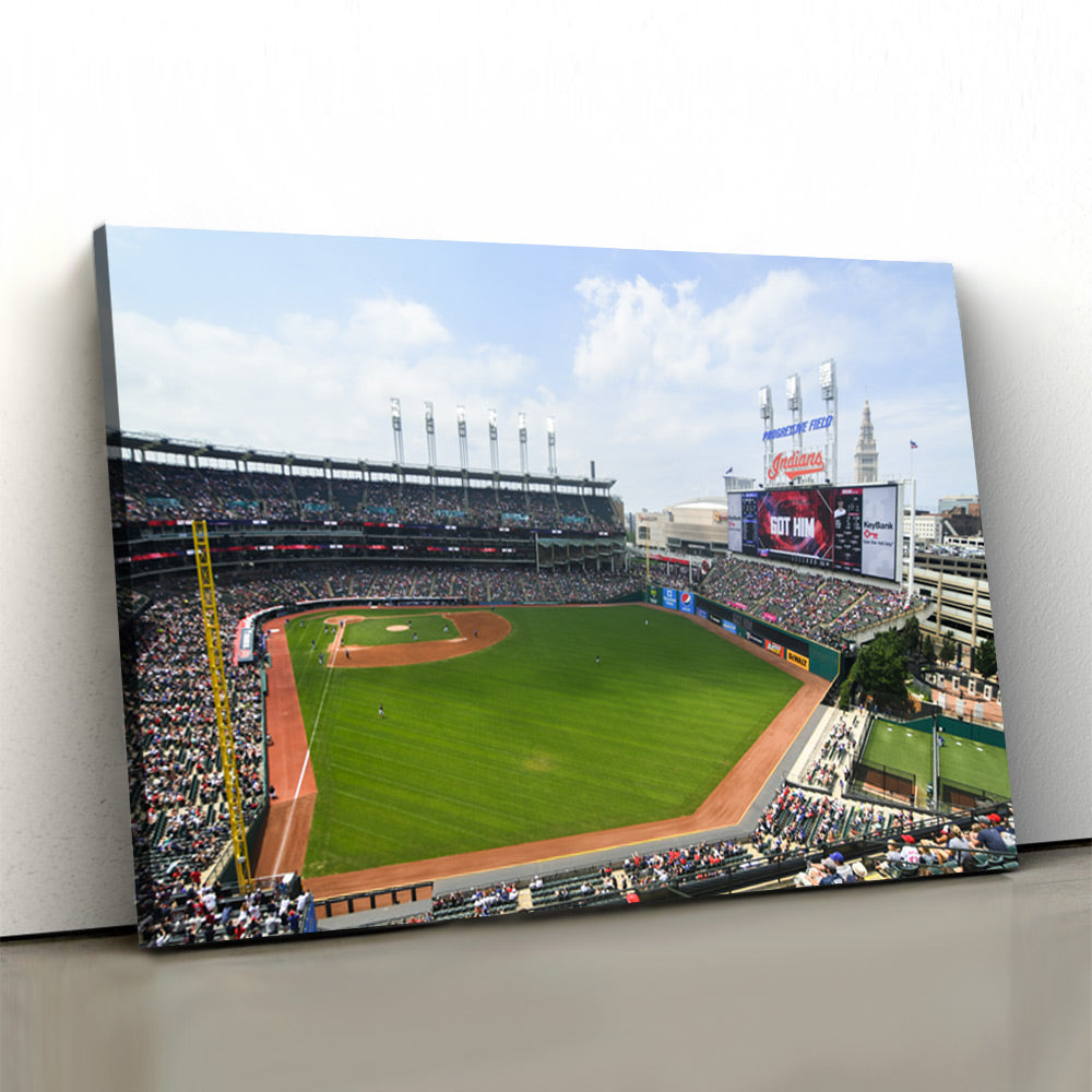 Cleveland Indians Stadium Canvas Set - Canvasist