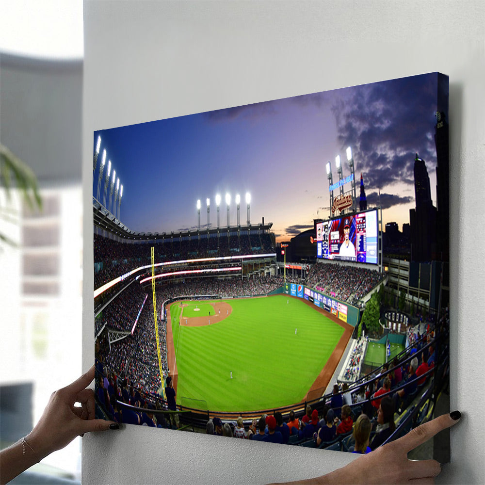 Cleveland Indians 2 Stadium Canvas Set - Canvasist