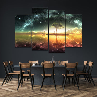 Colorful starry night Canvas Set - Canvasist