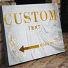 Custom Couture Gold Sign - Canvasist
